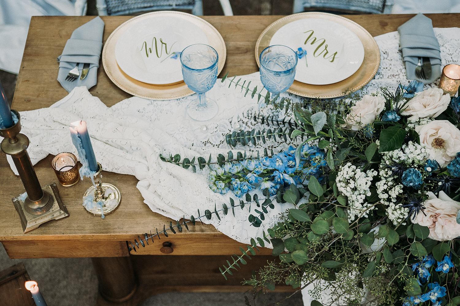 Mr. and Mrs. table placements