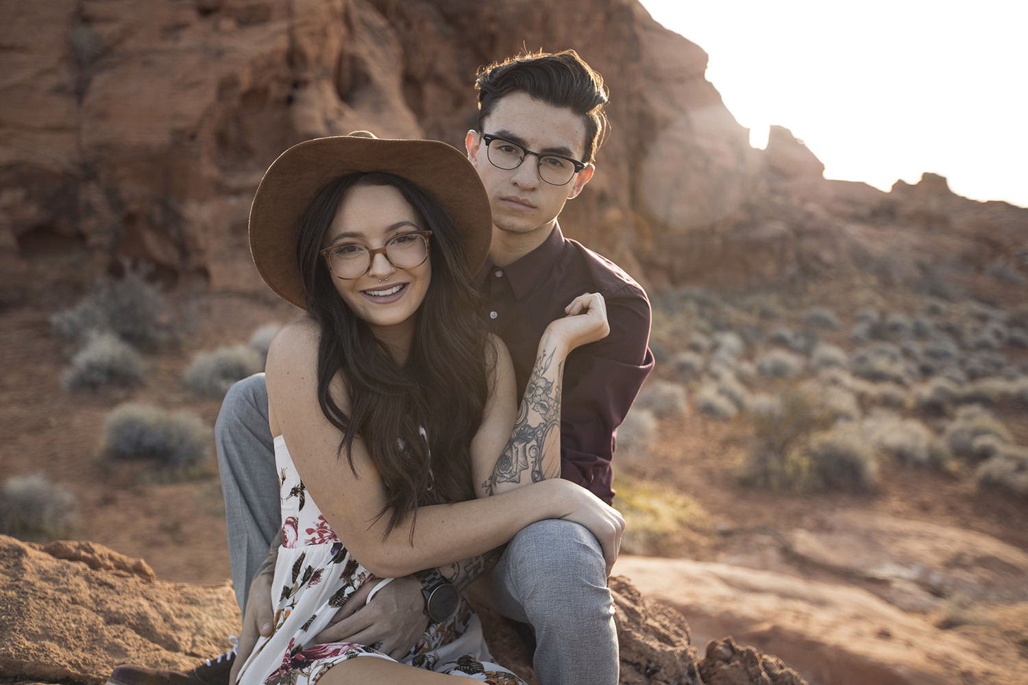 engagement shoot at valley of fire