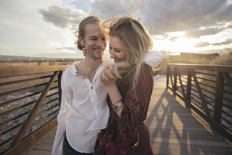engagement shoot at wetlands las vegas