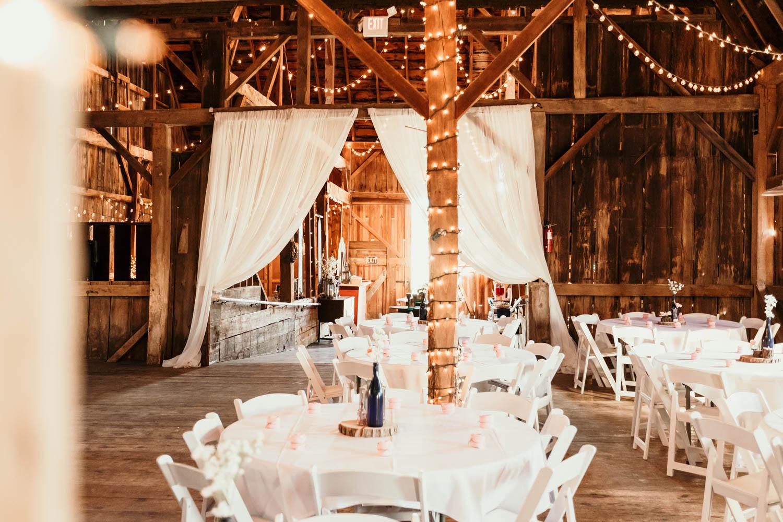 Jordan valley barn wedding reception