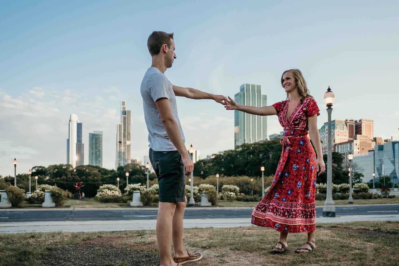 boyfriend twirling girlfriend
