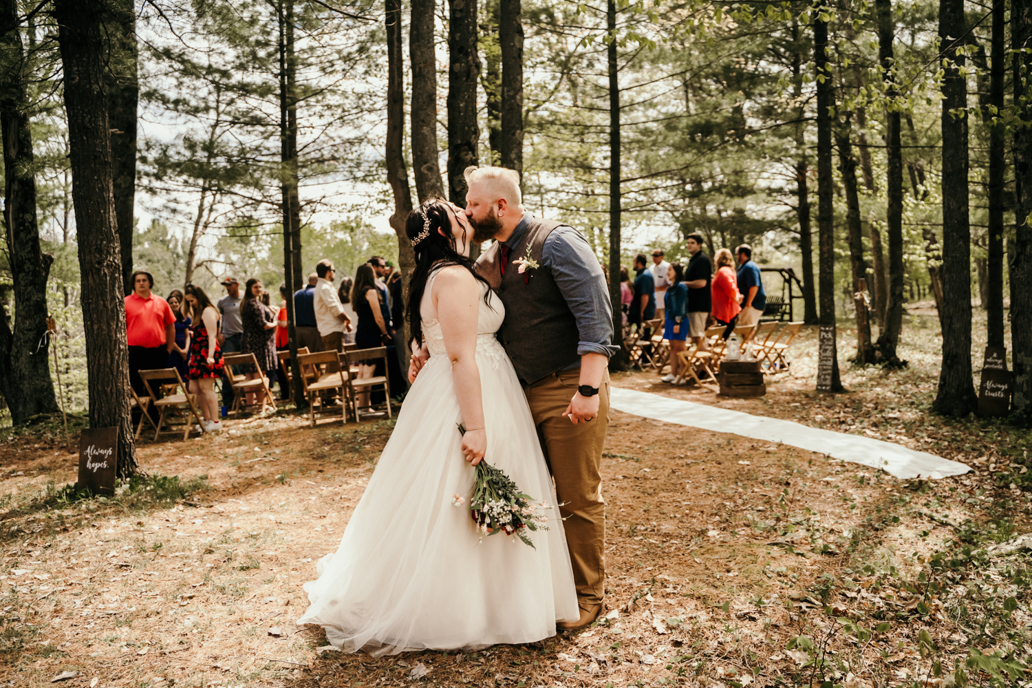 Forested Northern Michigan wedding