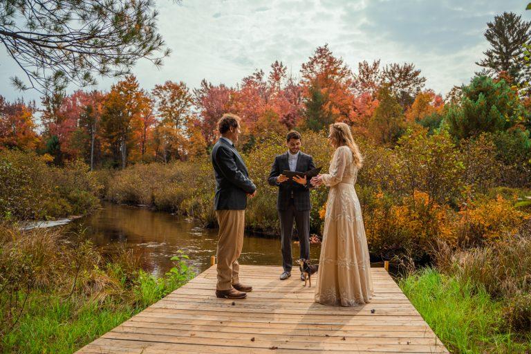 Northwest Michigan elopement in autumn